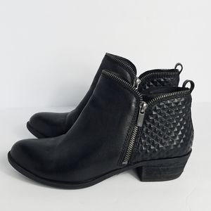 Lucky Brand black leather ankle boots size 8M